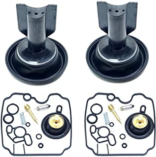 2 pi/èces conviennent pour Yamaha XTZ750 Super Tenere XTZ 750 Kit de r/éparation de carburateur /à membrane /à piston flotteur de valve /à aiguille /à vis pilote de valve
