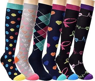 Compression Socks Women Men 20-30mmHg Knee High Compression Stockings