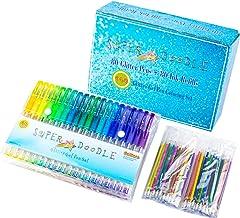 Super Doodle 160 Glitter Gel Pen Coloring Set- Includes 80 Unique Color Glitter Gel Pens and 80 Matching Refills- Artist Q...