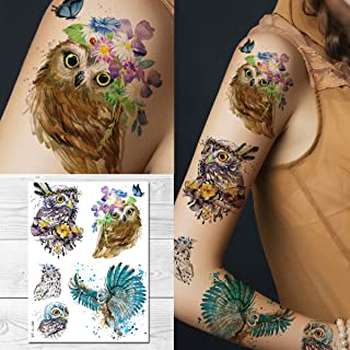 Best owl temporary tattoo Reviews