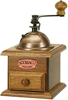 Comac Manual Coffee Grinder Mill with double Blade Antique Design Thickness Adjustment
