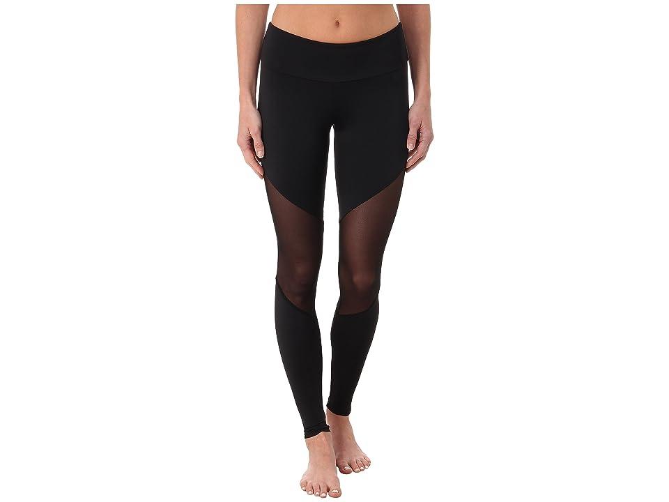 Onzie Track Leggings (Black/Mesh/Black) Women