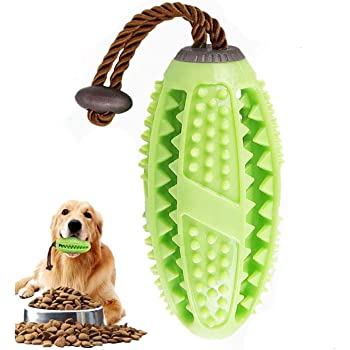 ALAIX Dog Toothbrush chew Toy - Pet Dental Care Brush Stick - Effective Tooth Cleaning Massager - Natural Non-Toxic Rubber bite-Resistant chew Dog Toy