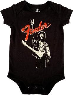 Fender Jimi Hendrix Onesie Black–12–18meses