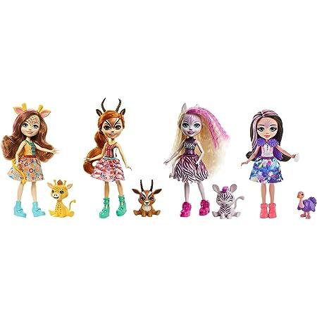 Enchantimals Sunny Savanna Muñeca con mascota y accesorios de juguete, modelo surtido (Mattel GYN57)