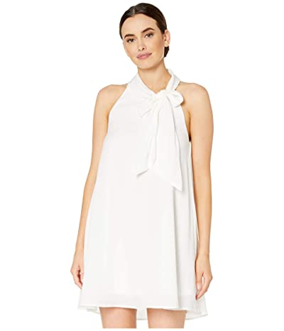 American Rose Willow Sleeveless Dress with Neck Tie (White) Women