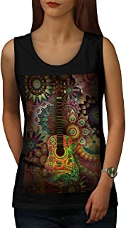 96bb88f0c902d3 wellcoda Colorful Guitar Womens Tank Top