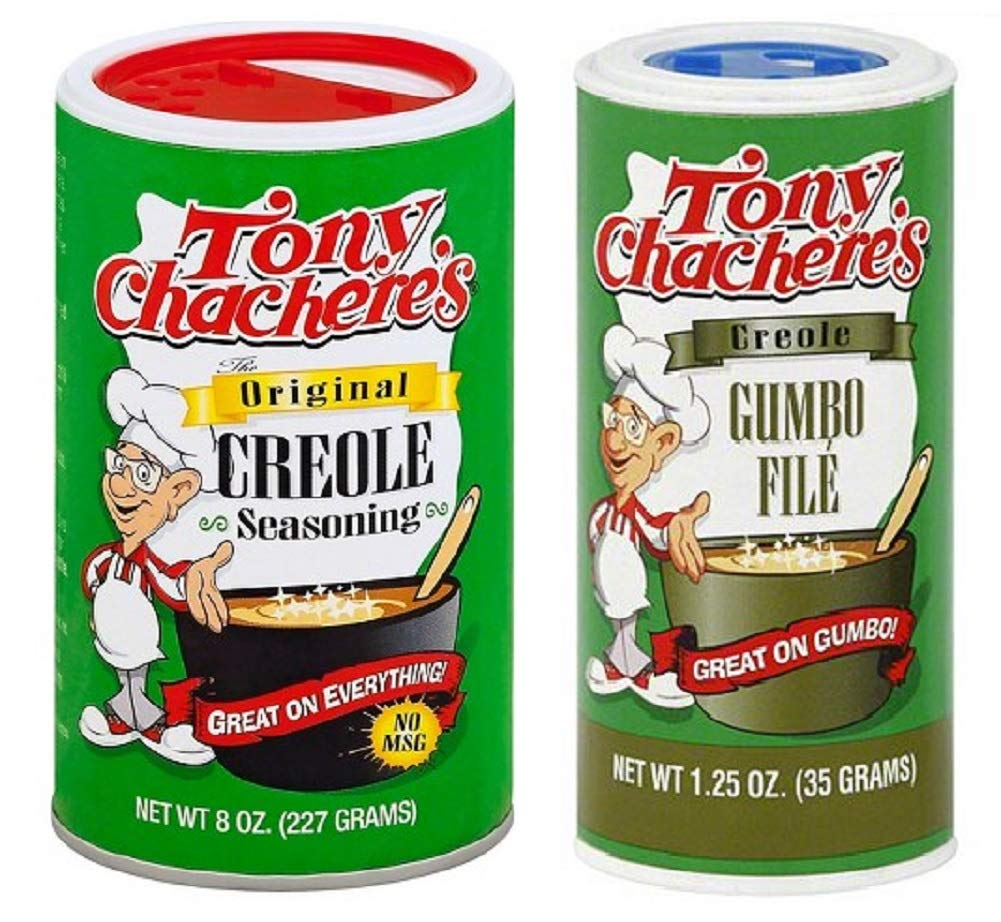 Amazon Com Tony Chachere S No Msg Cajun Creole Seasoning Bundle 1 Each Of Tony S Original Creole Seasoning 8 Ounces And Gumbo File 1 25 Ounces Grocery Gourmet Food