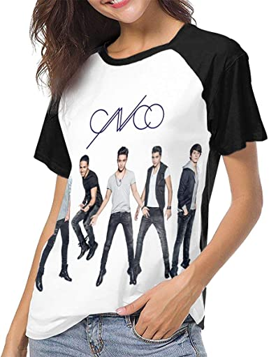 hdghgfjfghjd Camisetas para Mujeres,Fashion Personalized Cnco Logo Funny Baseball Tshirts O-Neck for Women Black Funny Graphic tee for Women Tops