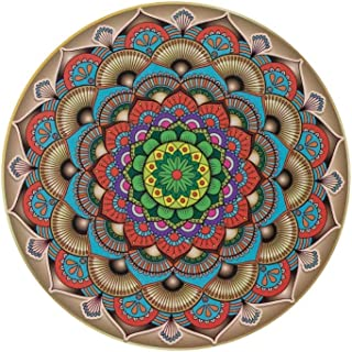 Jigsaw Puzzles 1000 Pieces SoCal Squared Round Colorful Unique Mandala Puzzle for Adults, Teens, and Kids - Challenging Ed...