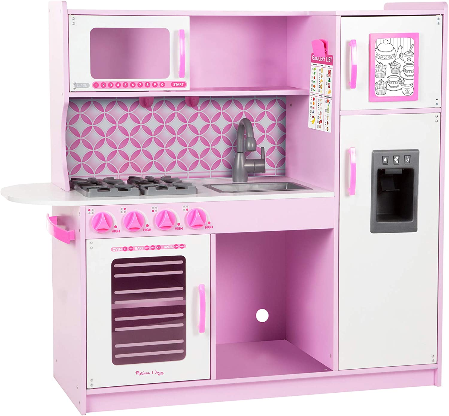 Melissa & Doug Chef's Kitchen - Pink Cupcake With Ice Cube Dispenser (Pink)
