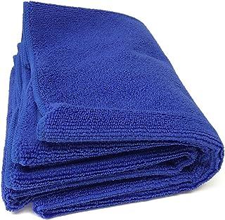 TARO WORKS 洗車タオル マイクロファイバー 洗車ふき取り 吸水クロス 2枚 40x60 青