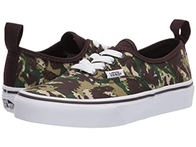 Vans Kids Authentic Elastic (Little Kid) ((Animal Camo) Brown/True White) Boys Shoes