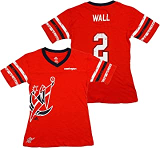 Washington Wizards NBA John Wall #2 Big Girls Replica Jersey Tee, Red