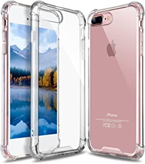 GeekZone iPhone 8 Plus Case, iPhone 7 Plus Case, Crystal Clear Case Hard Back Panel TPU Bumper Drop Protection Shock Absorption Technology Case for iPhone 7 Plus/iPhone 8 Plus (Crystal Clear)