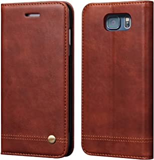 Galaxy Note 5 Wallet Case,Case Cover for Galaxy Note 5,RUIHUI Classic Leather Wallet Folding Flip Protective Shell with Card Slots,Kickstand,Magnetic Closure for Samsung Galaxy Note 5 (Brown)
