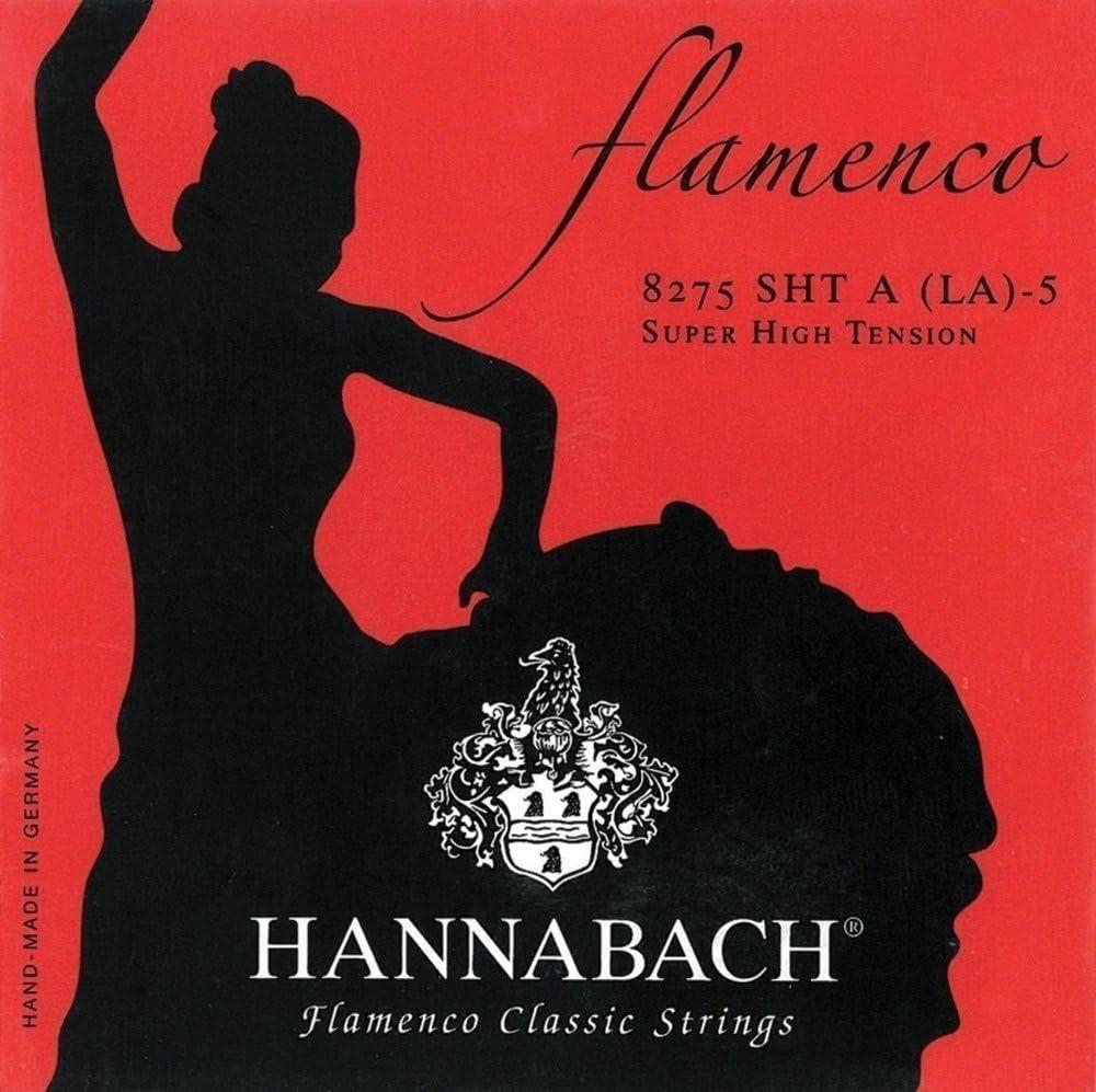 Hannabach Cuerdas para Guitarra Clásica, Serie 827 Tensión Muy Alta Flamenco Classic - cuerda suelta E6/Mi6
