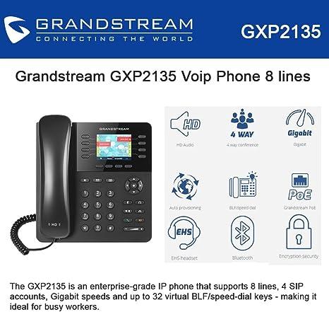 Grandstream Gxp 2135 Hd Ip Telefon Bluetooth Schwarz Elektronik