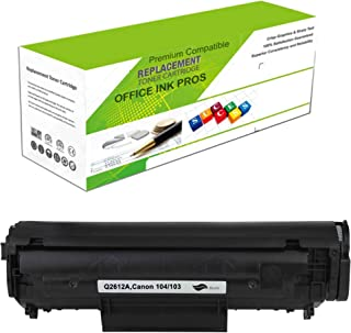 Replacement Toner Cartridge for Q2612A(Universal with Canon 104/103) – Remanufactured Standard Yield Laser Printer Cartridge for Canon, HP