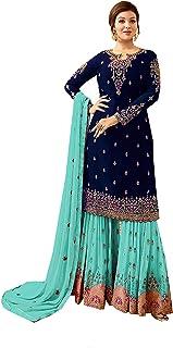 رداء حفلة هندي / باكستاني لملابس الزفاف شارارا نمط سالوار للنساء FIONA