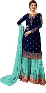 Ready Made New Designer Indian/Pakistani Sharara Style Salwar Suit for Women Fiona