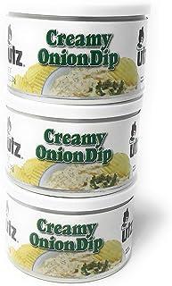 Utz Creamy Onion Dip 8.5 oz. Can (3 Cans)