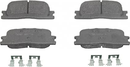 Wagner ThermoQuiet QC885A Ceramic Disc Pad Set With Installation Hardware, Rear