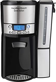 Hamilton Beach (47950) Coffee Maker with 12 Cup Capacity & Internal Storage Coffee Pot, Brewstation, Black/Stainless Steel (Renewed)