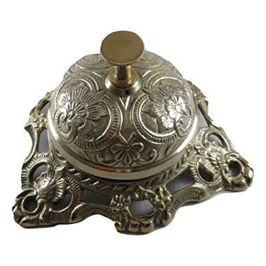 Upper Deck Ornate Solid Brass Hotel Counter Bell