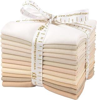 Studio RK Kona Cotton Solids Not Quite White 12 Fat Quarter Bundle Robert Kaufman Fabrics FQ-909-12
