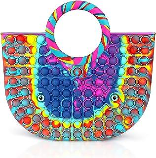 Push Pop Its Fidget Toys, Handtaschen für Damenmode Damen, Silikon-Umhängetasche, Schulter, It Pop Push Toy Pop Fidget Sen...