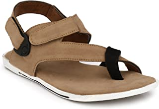 Tiesto Mens Synthetic Beige Sandals