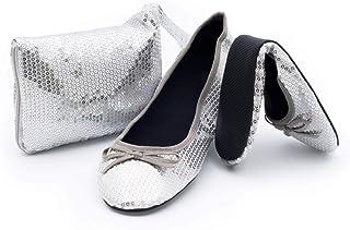 Amazon.es: Plateado - Bailarinas / Zapatos planos: Zapatos y complementos