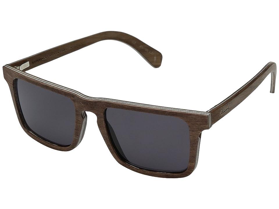 Shwood Govy 2 Wood Sunglasses (Walnut/Grey) Athletic Performance Sport Sunglasses