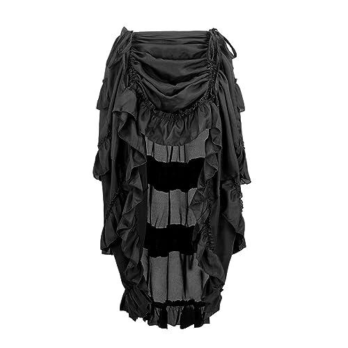 79218e577fce7 Charmian Women s Steampunk Gothic High Low Cyberpunk Skirt