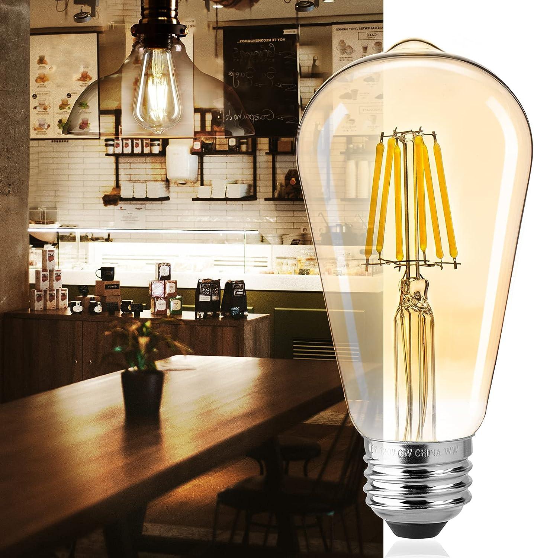 Led Bulbs 6 Packs 60 Watt Dimmable Max 84% OFF Light 2021 new Equivalent Edison Bulb