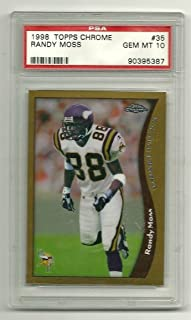 1998 Topps Chrome #35 RANDY MOSS ROOKIE CARD RC PSA 10