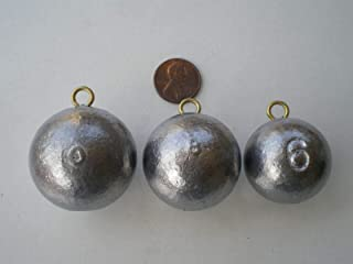 Saltwater Fishing Weights 9 PCS. Cannon Ball SINKERS 10, 8, 6, OZ. 3 Each from DO-IT Mold Terminal Tackle & Supplies