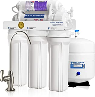 APEC Top Tier Supreme Certified Alkaline Mineral pH+ High Output 90 GPD 6-Stage Ultra Safe Reverse Osmosis Drinking Water ...