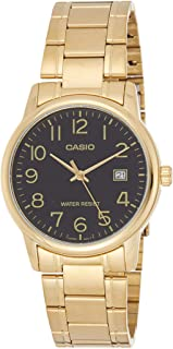 Casio Mens Quartz Watch, Analog Display and Stainless Steel Strap MTP