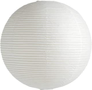 Rice Paper Shade abażur Ø 60 cm, klasyczny biały papier struktura żelaza bez zawieszenia