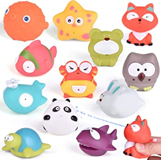 FUN LITTLE TOYS Bath Toys for Toddlers, Sea Animals Squirters Toys for Bath Tub, Water Toys for Kids-12 Pieces