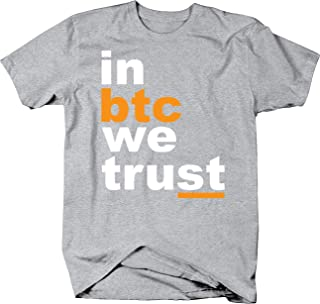 in BTC We Trust Funny Crypto Currency Enthusiast Bitcoin Investor T Shirt for Men