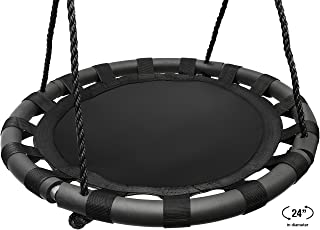 Sorbus Spinner Swing – Kids Indoor/Outdoor Round Mat Swing – Great for Tree, Swing Set, Backyard, Playground, Playroom – Accessories Included (24