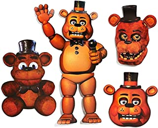 "licence peluche NEUF Cupcake Cinq Nights at Freddy 9/"" FNAF Orange Blacklight NEON"