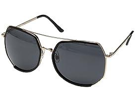 Metal Frame Octagon Sunglasses