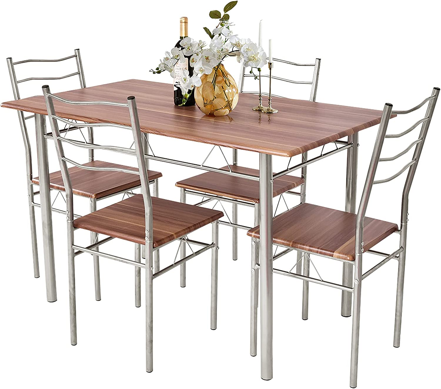 Nafort 5-Piece Kitchen Free shipping anywhere in the nation Branded goods Dining Table Small Modern Set Roo