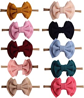 Baby Girl Headbands and Bows Girls Hair Elastic Bow Tie Bands - Infant Toddler Newborn Girl Hair Accessories
