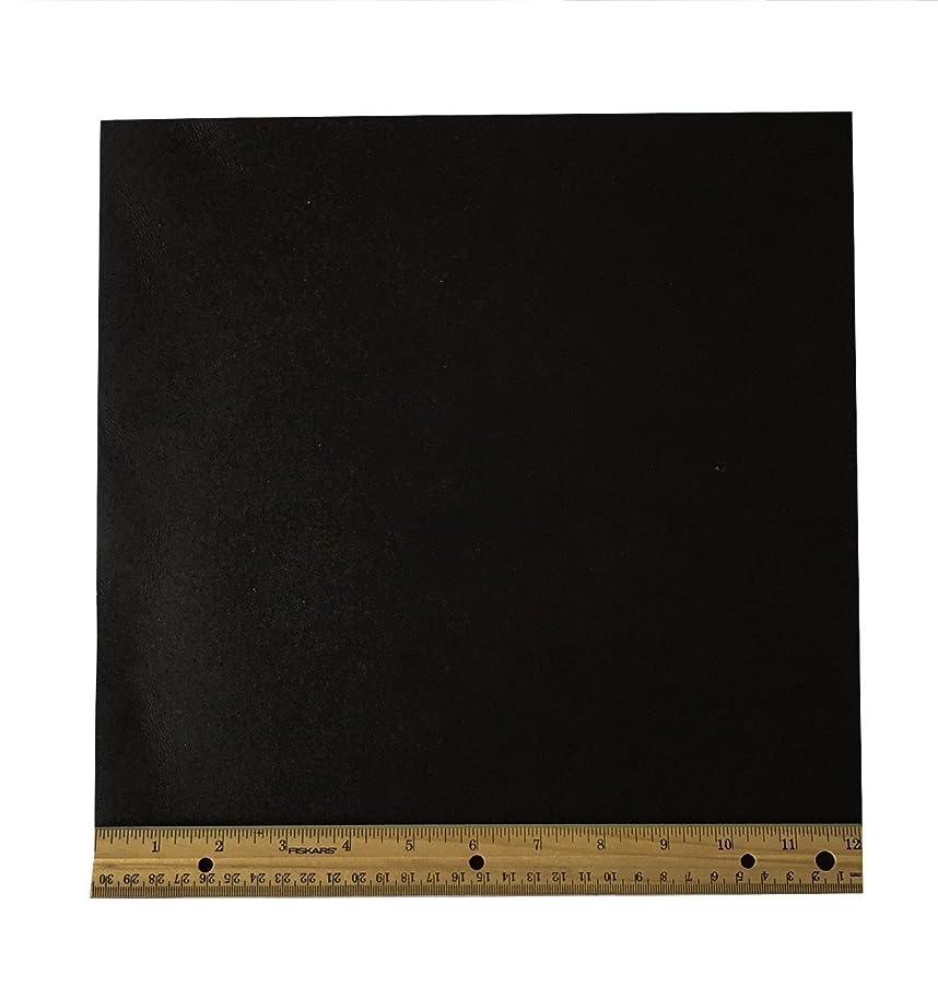 Dangerous Threads Black Leather Piece - 8/9 oz Heavy Weight Topgrain Cowhide - Various Sizes (Black 12