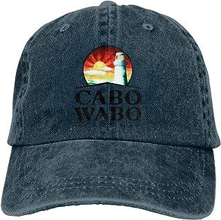 Xuforget Cabo Wabo Logo Unisex Cowboy Sports Hats Adjustable